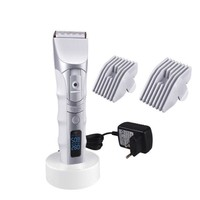 Electric Professional Hair Clippers 5 Speed Rechargeable LCD Display Haircut & Beard Trimmer Cordless Precision Trimmer