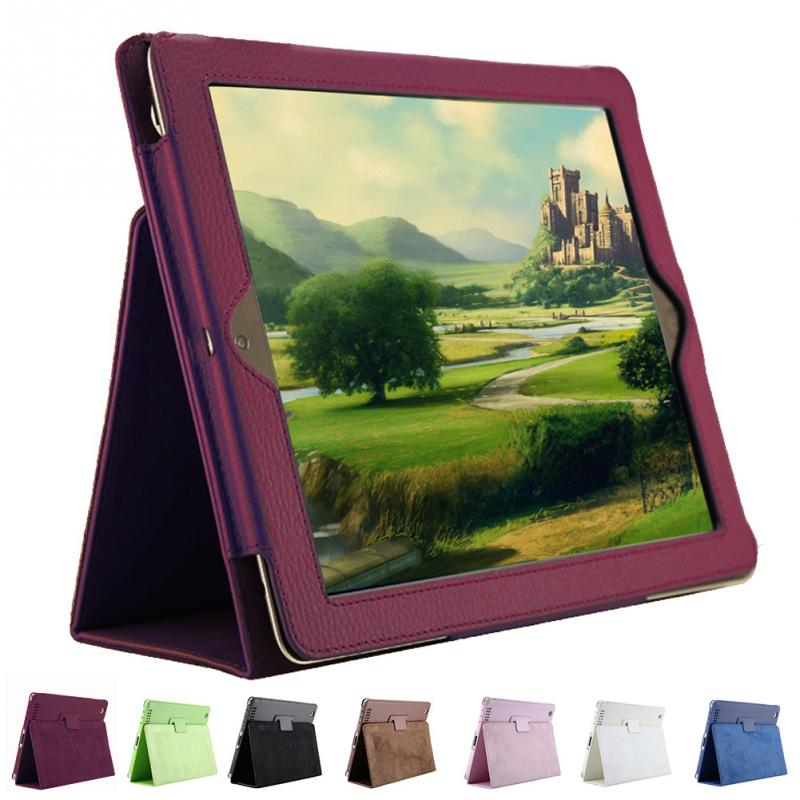 1Pc Litchi Pattern Protective Leather Case For iPad 2/3/4 with Sleep Wake up Function цена и фото