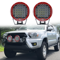 185w 9 Inch Headlamp Round Led Off Road Light Spot Beam Led Work Light Fog Light Driving Light Roof Bar Bumper for SUV Boat 4x4