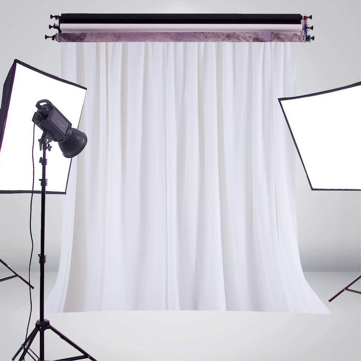 5x7ft White Curtain Photography Backdrop Art Photo Studio Backdrop Holiday background in Photo Studio Accessories from Consumer Electronics
