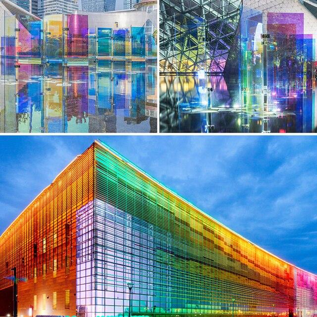 Rainbow Color Iridescent Window/Acrylic Sticker Film for Glass Window Sticker Decorative UV Proof Film A4/50cm/100cm/200cm/300cm 1