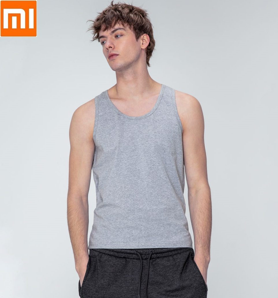 2pcs/lot Xiaomi Youpin Cotton Smith Soft Bottoming Vest Soft Comfortable Sleeveless Vest for Men Indoor or Outdoor-in Smart Remote Control from Consumer Electronics