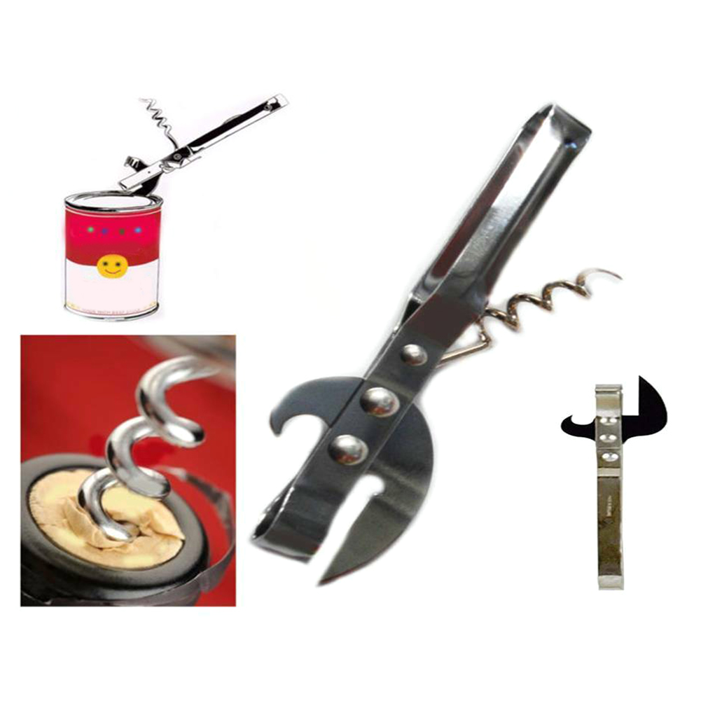 multi use solid portable can jar wine bottle opener for picnic and camping