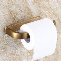 Europeu Antique Bronze Escovado suporte do Papel Higiénico Suporte de Rolo de Tecido Titular Latão Quadrado Acessórios Do Banheiro Definir Au28