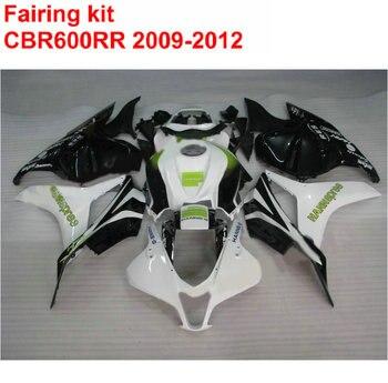Injection ABS Fairing Kit For HONDA CBR600RR 2009-2012 White Black Motorcycle Fairings Set CBR 600 RR 09 10 11 12 SZ11