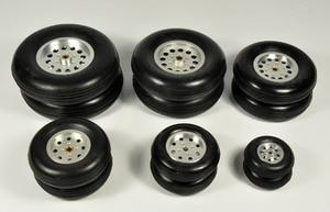 """Image 1 - 1 pz gomma ruota con mozzo in alluminio per rc modello di aereo e diy pneumatici robot 1.75 """" 4.5"""""""