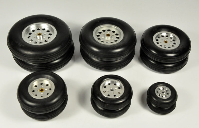 """1 pz gomma ruota con mozzo in alluminio per rc modello di aereo e diy pneumatici robot 1.75 """" 4.5"""""""