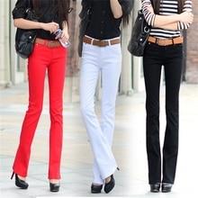 New large size elastic jeans lady micro speaker long pants casual Slim pants (8 colors optional) TB7066