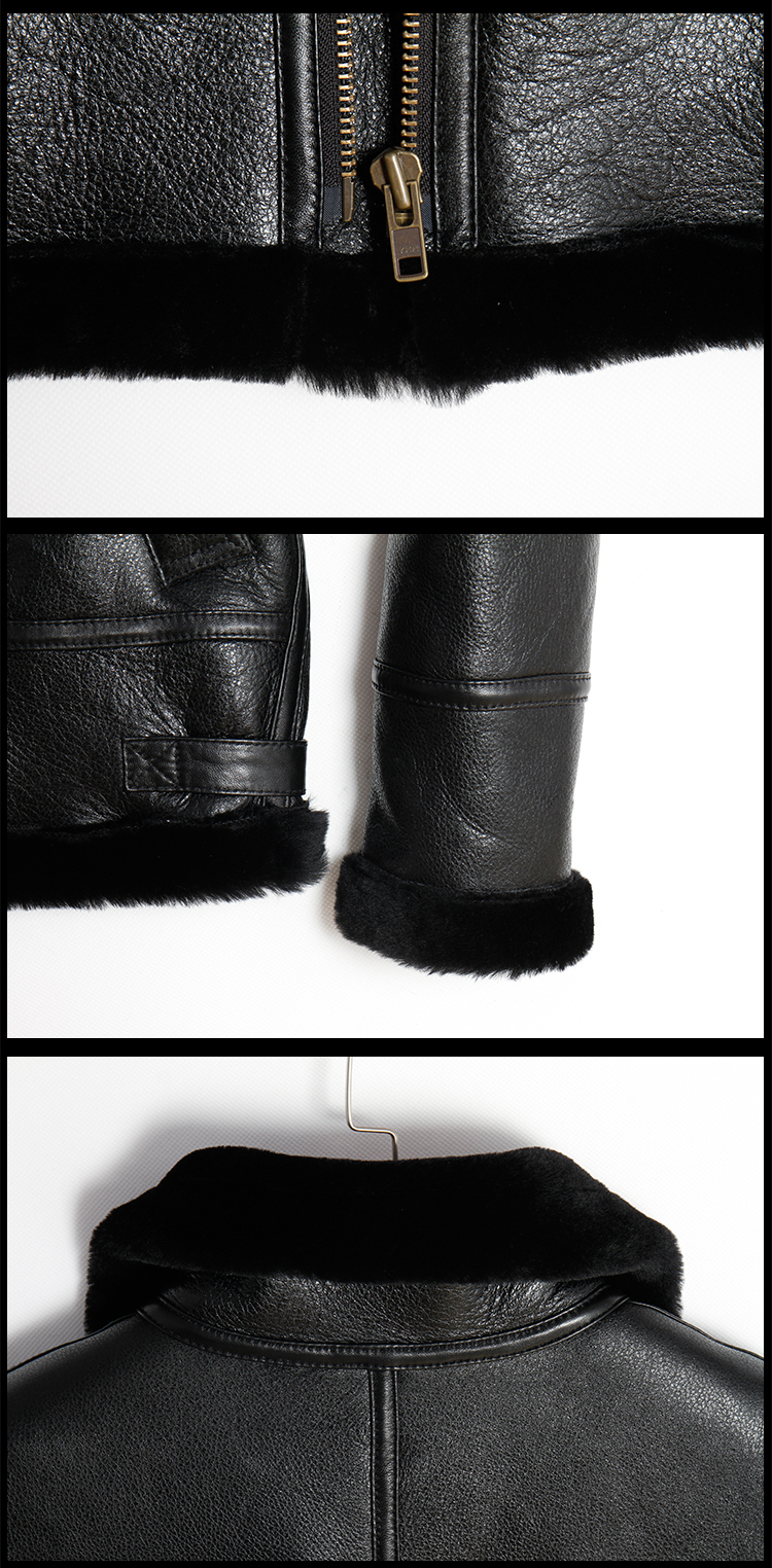 HTB1E8Slt5AnBKNjSZFvq6yTKXXan Free shipping,Winter Genuine Sheep fur coat,Wool Shearling,warm leather jacket,mens sheepskin coat.plus size black jackets.