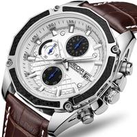 Genuine JEDIR maschile quarzo orologi Cuoio Genuino orologi da corsa degli uomini Studenti gioco Run Cronografo Orologio maschile glow mani
