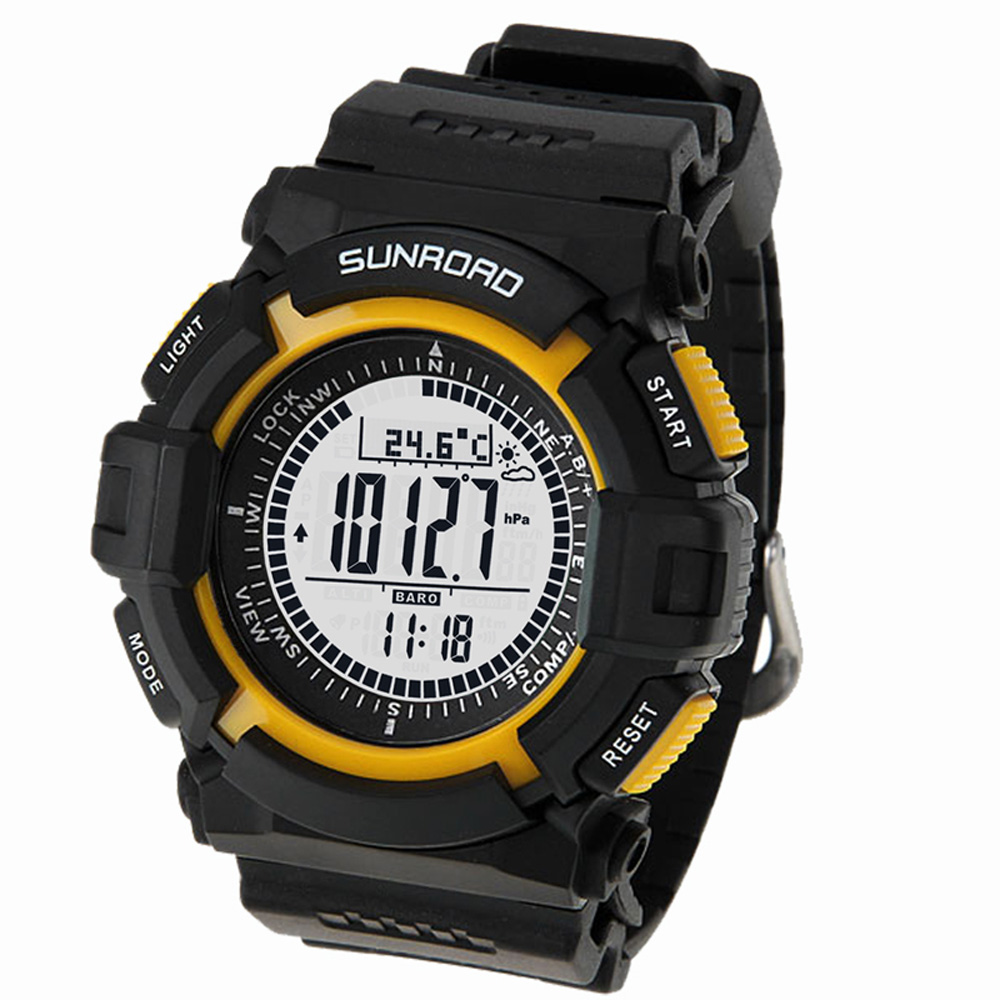 Image 2 - Sunroad FR820A 3ATM Waterproof Altimeter Compass Stopwatch Fishing Barometer Pedometer Outdoor Sports Watch Fishing Tools-in Fishing Tackle Boxes from Sports & Entertainment