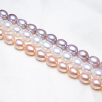Rice Cultured Freshwater Pearl Beads Company Natural Pink Purple White 8 9mm Sold Per Approx 15