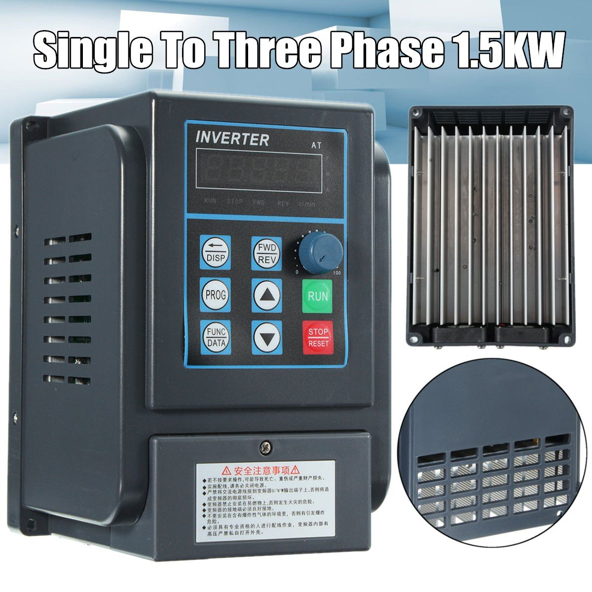 18560 220v 1 5kw single phase input and 380v 3 phase