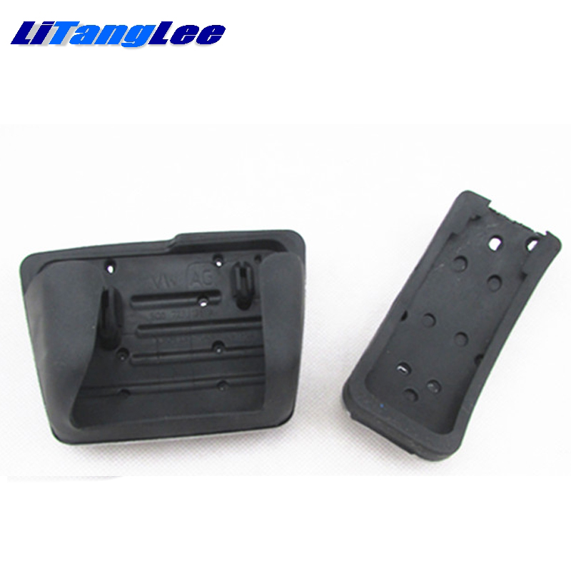 LitangLee Car Accelerator Pedal Pad Cover Sport Racing Design For SEAT Arosa 1997~2004 AT Foot Throttle Pedal Cover (2)