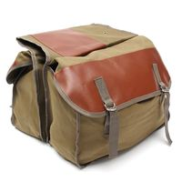 Canvas Universal Motorcycle Bike Rear Tail Bags Equine Back Pack Mortorbike Saddle Bags For Haley Sportster