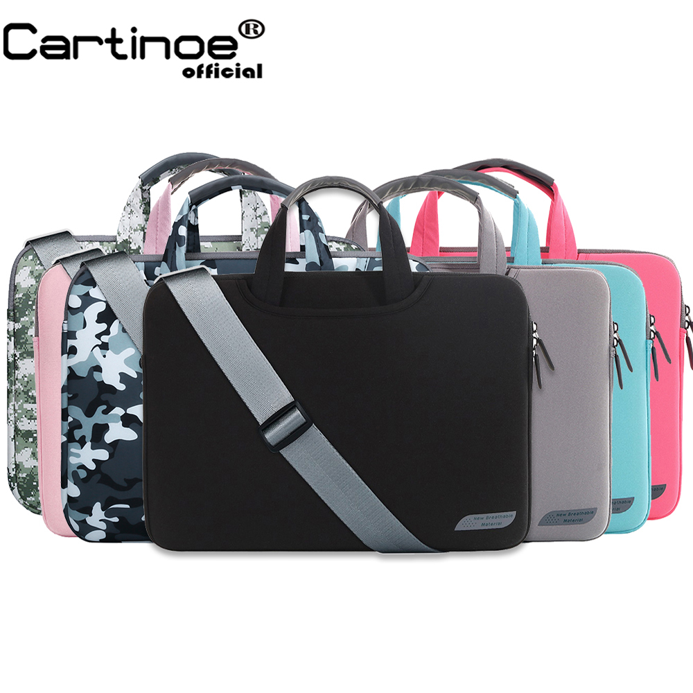 Portable Laptop Shoulder bag 11 12 13 14 15.6 inch Computer Sling Bag men women Messenger Sleeve case for Macbook Air Pro 13 15 notebook bag 12 13 3 15 6 inch for macbook air 13 case laptop case sleeve for macbook pro 13 pu leather women 14 inch