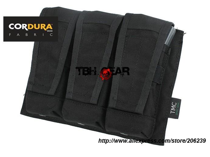 TMC Molle AVS Mag Pouch Cordura Triple Mag Pouch BK OD FG KK Free shipping SKU12050222