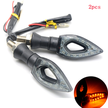 for High quality 1 pair of Universal LED Motorcycle Turn Signal Indicators Lights/lamp Easy to install ktm bmw yamaha hinda