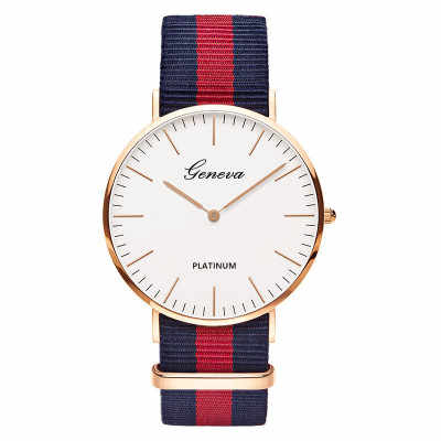 Brand Quartz Watch Women Men Classic Nylon Strap Dress Wrist Watch Fashion Casual Unisex Watches Relojes Hombre Clock Men
