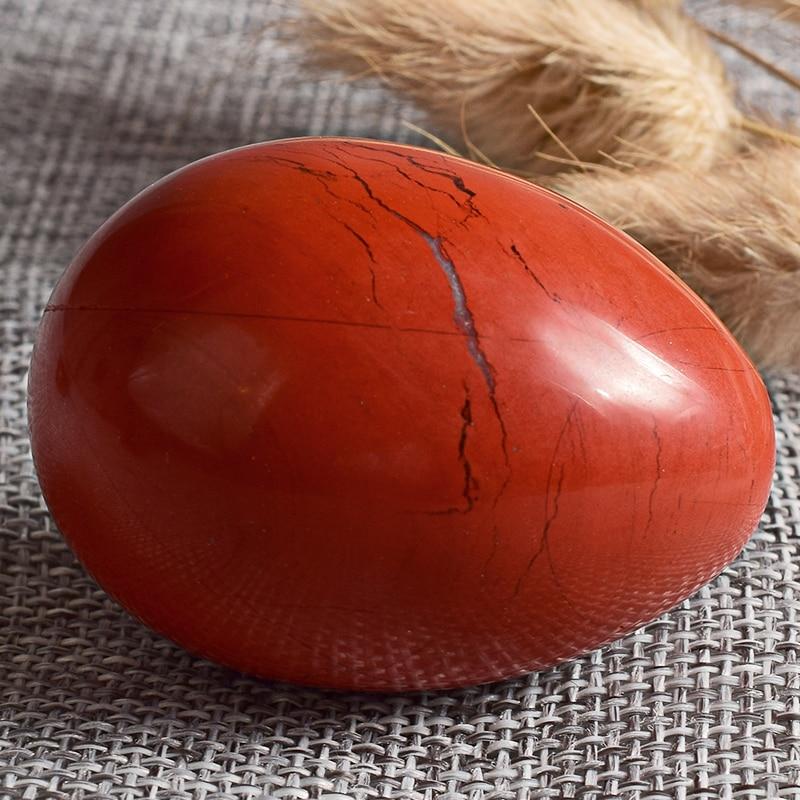 50*35mm gemstone egg for Kegel Exercise 1pcs red jasper pelvic floor muscles vaginal exercise yoni egg ben wa ball сумка ashwood chelsea jasper jasper chestnut brown