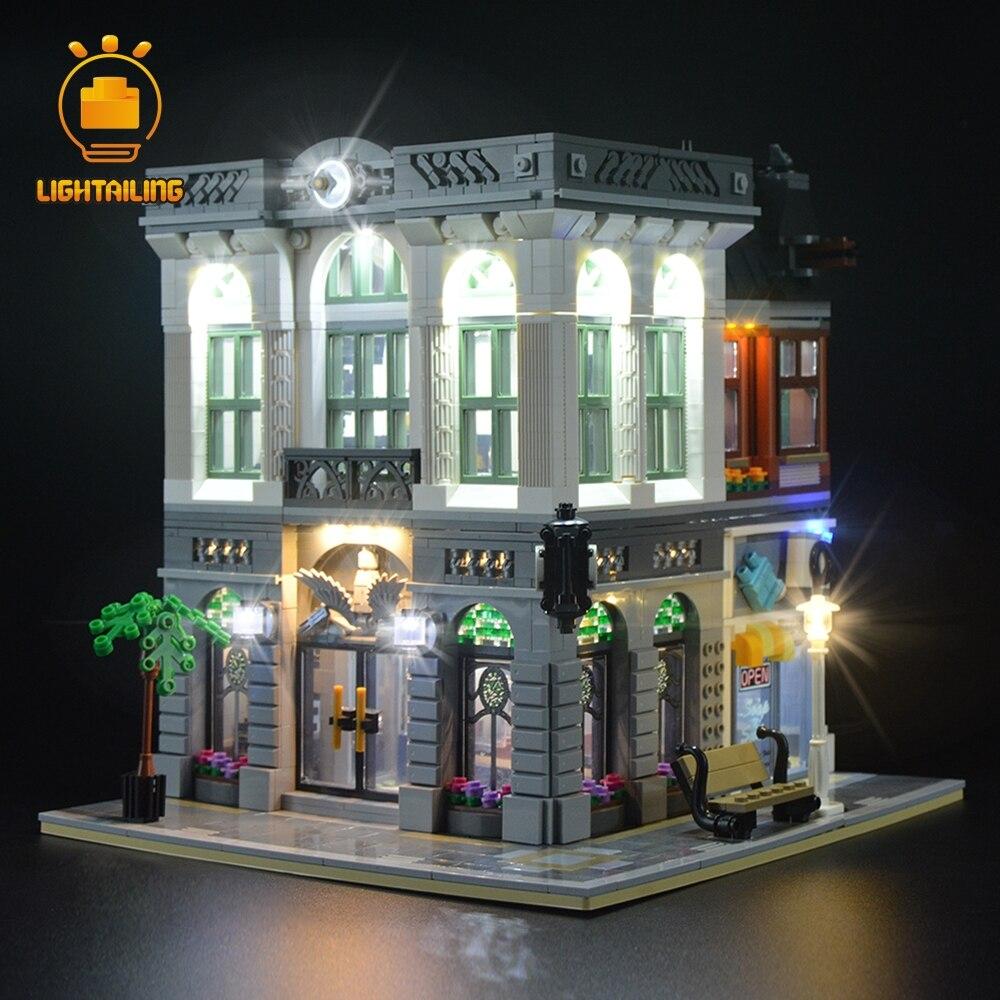 LIGHTAILING مصباح ليد يصل كيت ل الخالق الطوب البنك ضوء مجموعة متوافق مع 10251-في حواجز من الألعاب والهوايات على  مجموعة 3
