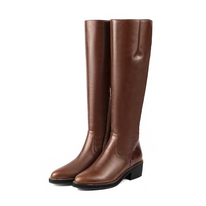 AnmaiRon Spitz Knie-Hohe Booties Bella Hadid Frauen Stiefel Zapatos De Mujer Größe 34-39 ZYL1429