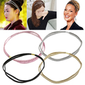 Bluelans 2016 Fashion Elastic Headband Head Piece Hair Band Jewelry for Women Girl Lady 5 Colors