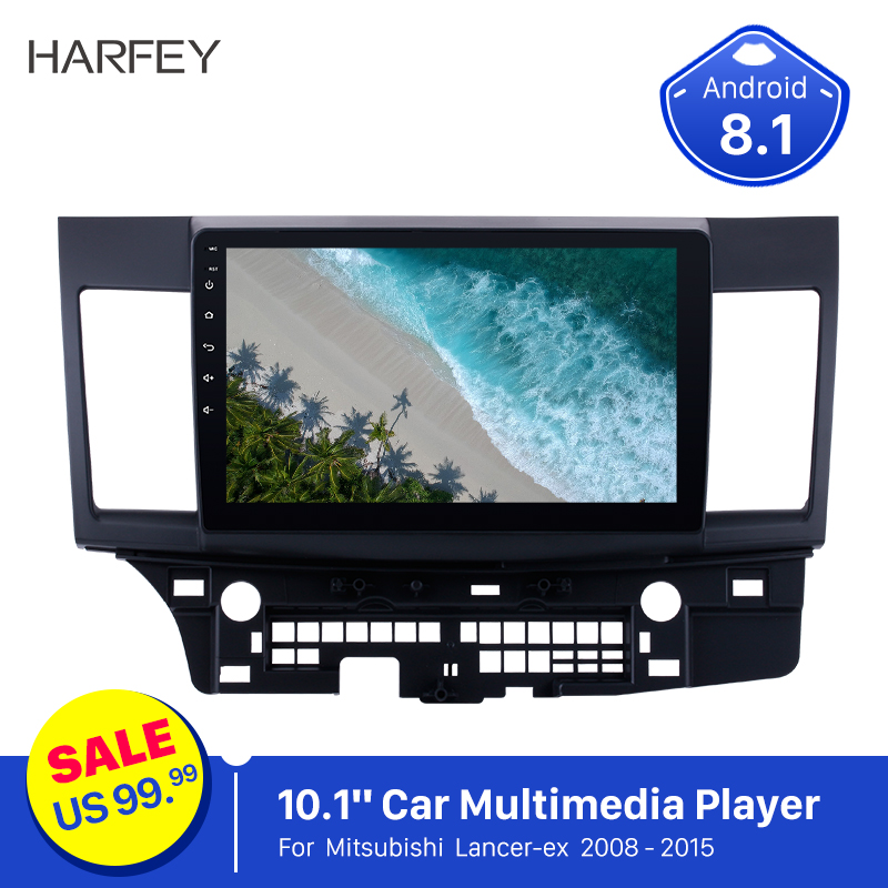 Harfey 2 din 10.1 GPS car radio for Mitsubishi Lancer-ex 2008-2015 car multimedia player HD Touchscreen Android 8.1 autoradio image