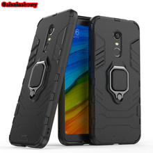 Shockproof Armor Case For Xiaomi Redmi Note 4X Kickstand Finger Ring Holder Case For Redmi Note 4 Phone Case Cover Shell Capa(China)