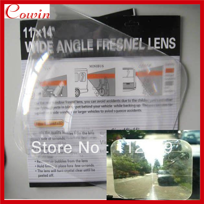 Free Ship Large 11x14 Inch Wide Angle Rear View Window Optical Fresnel Lens Blind Spot Angle