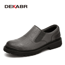 DEKABR Genuine Leather Men Shoes Fashion Waterproof Oxford S