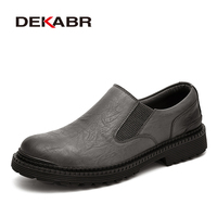 DEKABR Genuine Leather Men Shoes Fashion Waterproof Oxford Shoes Man Breathable Sneakers British Style Flats Autumn Casual Shoes