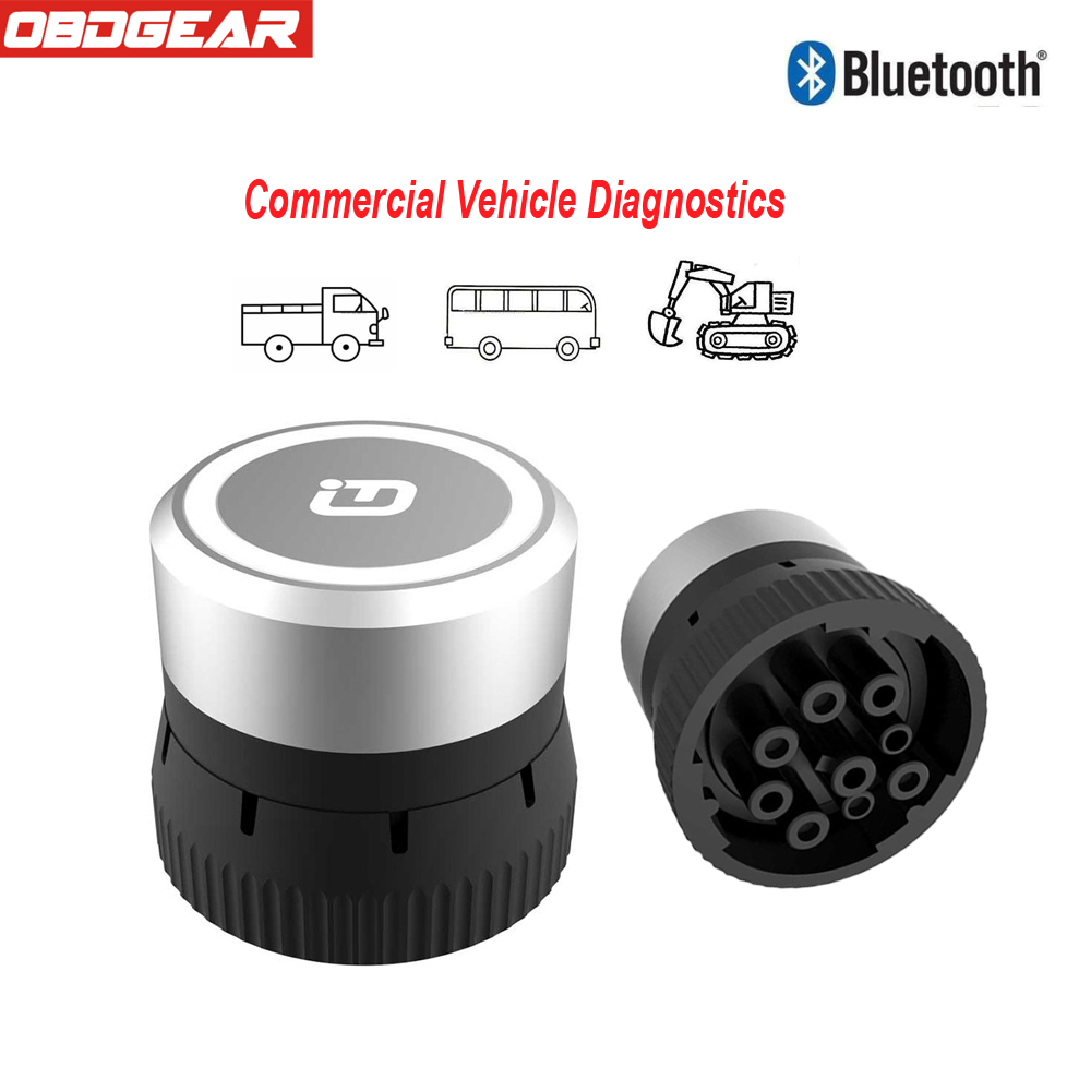 XTUNER CVD-9 Diesel Truck Diagnostic Bluetooth Connector Adapter OBD2 Scanner Commercial Vehicle Diagnostic Tool For 2000 to Now new vd tcs cdp multidiag pro bluetooth with single green board pcb chip plastic box for cars trucks obd2 scanner diagnostic tool