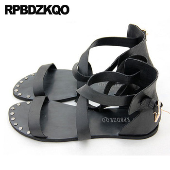 Rivet Open Toe Runway Famous Brand Designer Shoes Nice Men Gladiator Sandals Summer Waterproof Stud Casual Italian Native Beach
