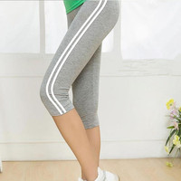 Hot Summer Casual Fitness Sporting Leggings Large Size Thin Cotton Leggings Fashion Women Capris Ropa Deportiva Mujer 75AA155