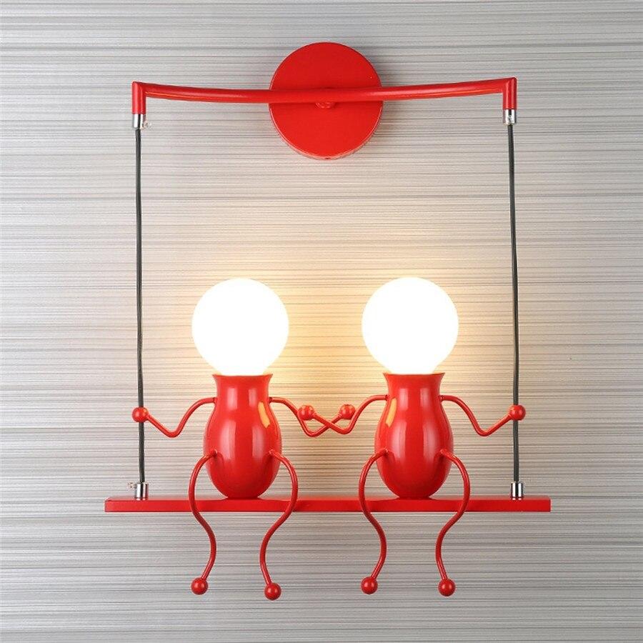 Sxzm 10 Вт светодиодный светильник настенный AC85-265V творческий лампа светильник мультфильм двойной люди украшение дома для постели, фойе насте...