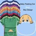 """Nuevo Diseño Divertido y Lindo """"bebé que asoma"""" Camisa de Maternidad ropa para mujeres embarazadas de manga corta Ocasional más el tamaño XXL"""