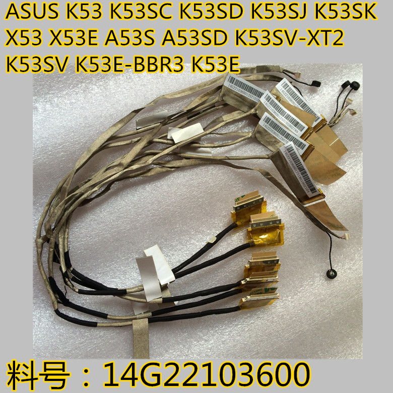 Computer Cables Original LCD LED for ASUS K53 K53E K53S K53SC K53SD K53SJ K53SK K53SM KLaptop Screen Display Cable 14G221036000 14G221036001 Cable Length: Other
