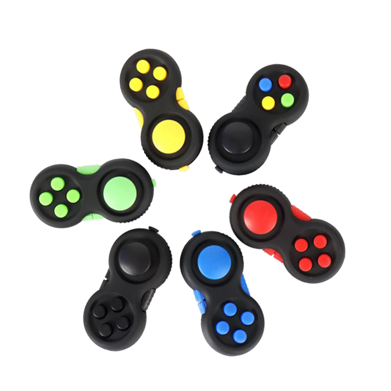 Funny Magic Gamepad Fidget Toys Desktop Cube Fidget Desk Toy Relieve Stress Handle Shank Anti-stress Plastic Pad Adults Toys