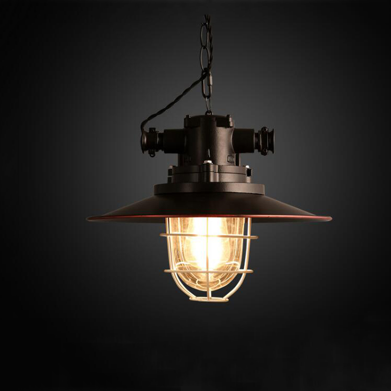 Amercian retro loft pendant lamp vintage chandelier Iron cafe pub study office restaurant dining room kitchen lighting lamps contemporary and contracted creative personality retro art glass chandelier cafe restaurant study lamps act the role of milan