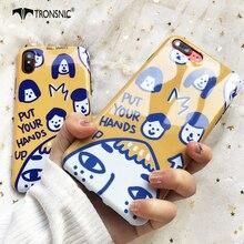 Tronsnic Yelow Phone Case For iPhone 7 7 Plus Girl Cute Soft Case For iphone 8 8 Plus TPU Back Cover Capa Korean Fashion Bag Hot