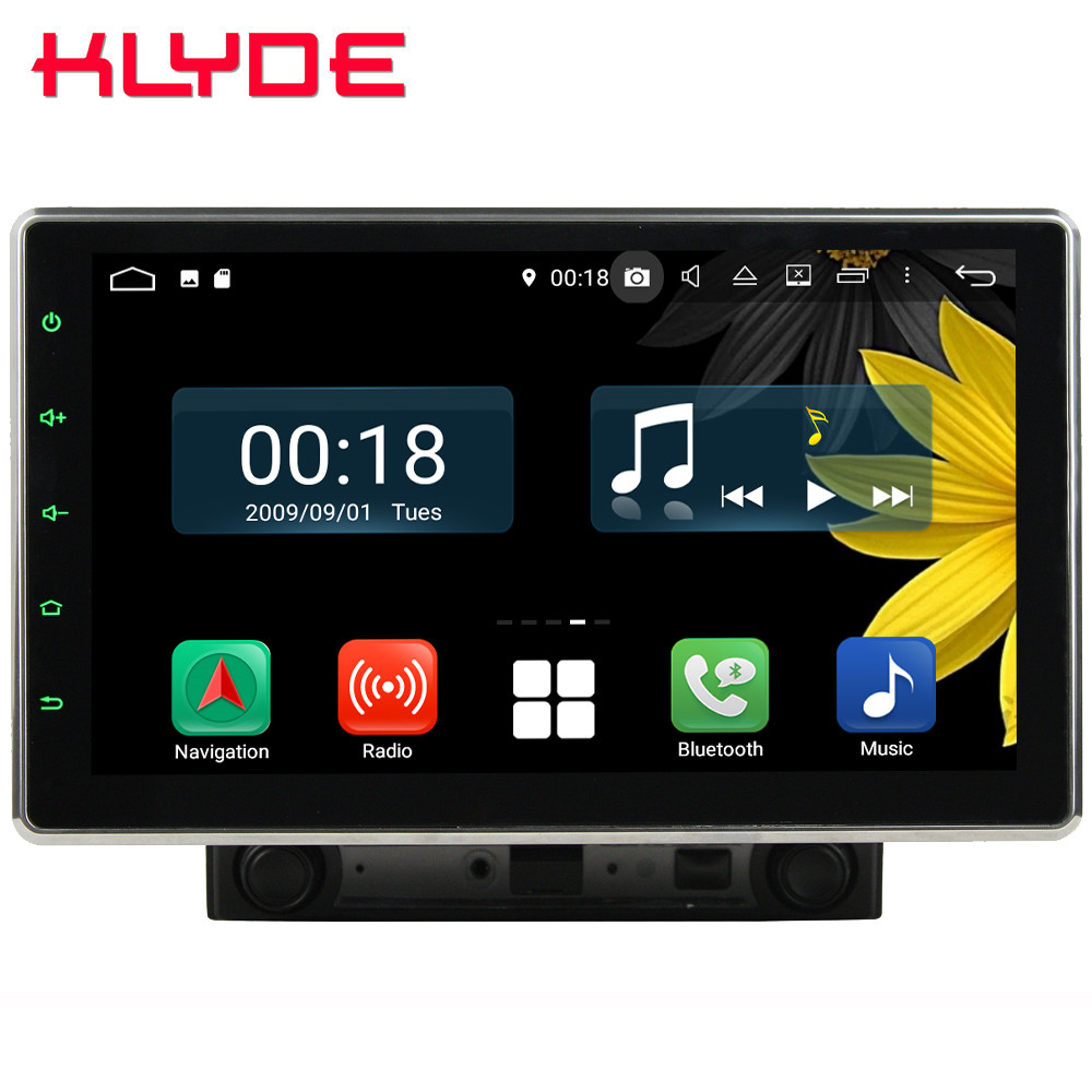 10.1 IPS Écran Rotative Octa Core 4g Android 8.1 4 gb RAM 64 gb ROM RDS 2Din Universel voiture Lecteur DVD Radio Stéréo GPS Glonass
