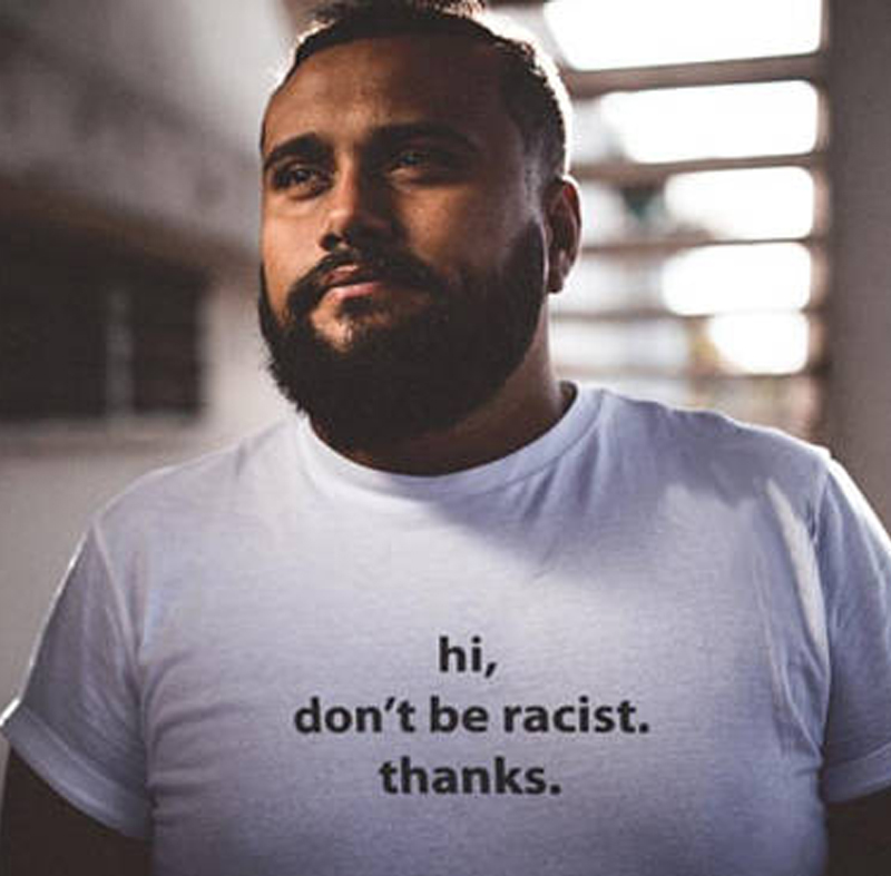 Расизм футболка прав человека Hi не быть расистских спасибо футболка равные права гомофобии гей фестиваль, подарок на день рождения