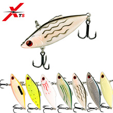 Купить с кэшбэком XTS Fishing Lure 50mm/65mm 5.6g/10.5g Wobblers Artificial VIB Hard Bait 7 Colors ABS Material Crankbait Sinking Jerkbait 5348