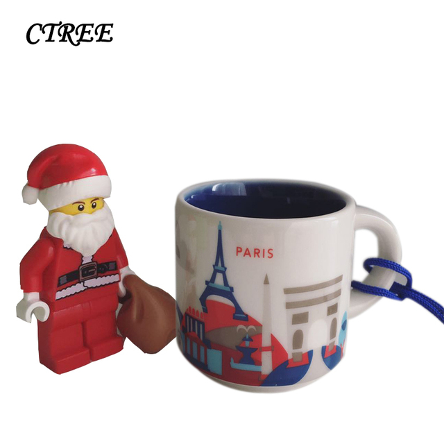Ctree 420ml Hand Painted City Landscape Colourful Ceramic Household Coffee Cups Tea Milk Cup Office Handle