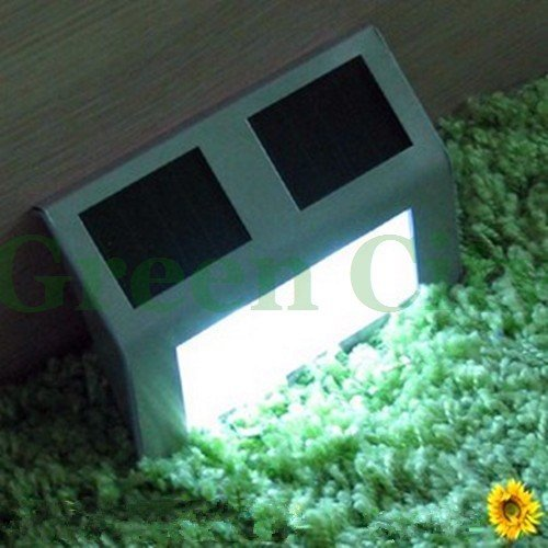 Solar Powered LED Light Pathway Path Step Stair Wall Mounted Garden Lamp Wholesale and Retail