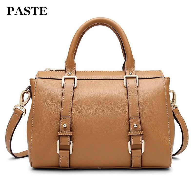 100% natura skóry wołowej dużego ciężaru torba na ramię z prawdziwej skóry torebki dla kobiet luksusowe kobiet torba duża krzyż ciała torba PT32 w Torby z uchwytem od Bagaże i torby na  Grupa 1