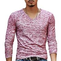 2018 NEW Trendy Summer Men T Shirt Casual Long Sleeve Slim Men's Basic Tops Tees Stretch T-shirt Mens Clothing Chemise Homme 2