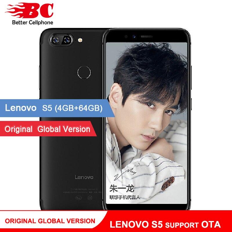 D'origine Mondial Version Lenovo S5 K520 K520T Téléphone OTA 4 gb RAM 64 gb ROM Snapdragon 625 Octa Core ZUI 3.7 Android 8.0 Visage-ID