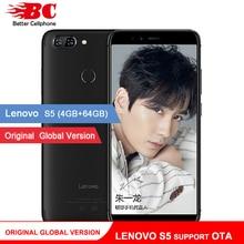 Orijinal Küresel Sürüm Lenovo S5 K520 K520T Telefonu OTA 4 GB RAM 64 GB ROM Snapdragon 625 Octa Çekirdek ZUI 3.7 Android 8.0